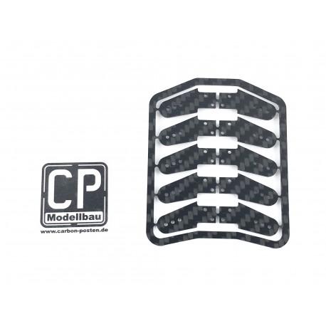 10 St. 13 mm Carbon Ruderhörner