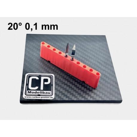 2,0 mm VHM-Fräser mit Diamantverzahnung