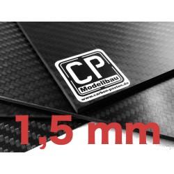 1,5 mm Platte aus Carbon