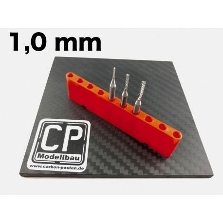 1,0 mm VHM-Fräser mit Diamantverzahnung
