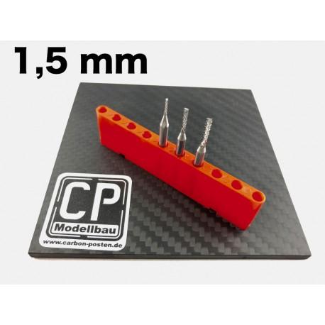 1,5 mm VHM-Fräser mit Diamantverzahnung