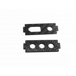 2mm Carbonhalteplatten für XT60 und TX Antenne (2 Stück)